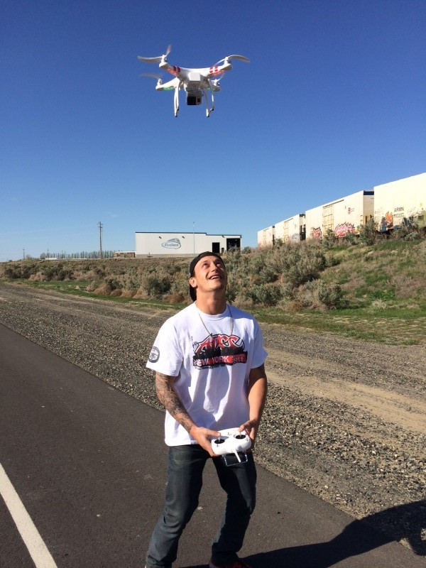 Jason Pollak and his Drone